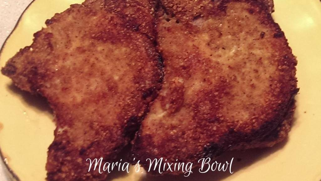 Breaded pork chops low carb maria 39 s mixing bowl for Low carb fish breading