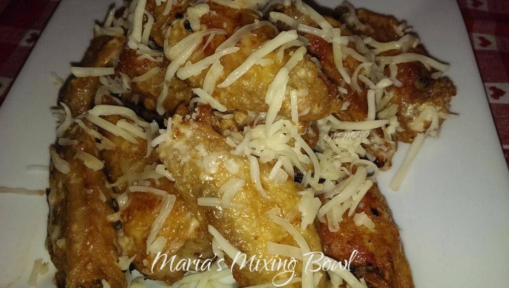 Garlic Parmesan Cheesy Wings