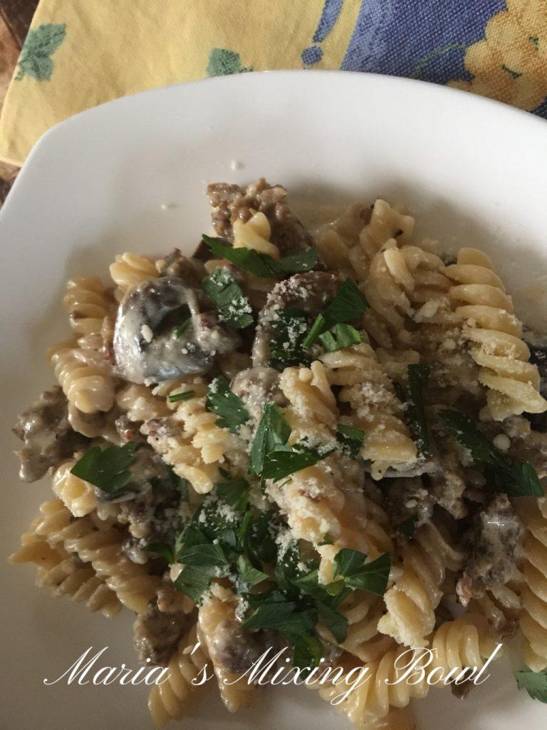 Creamy Sausage Mushroom  Pasta