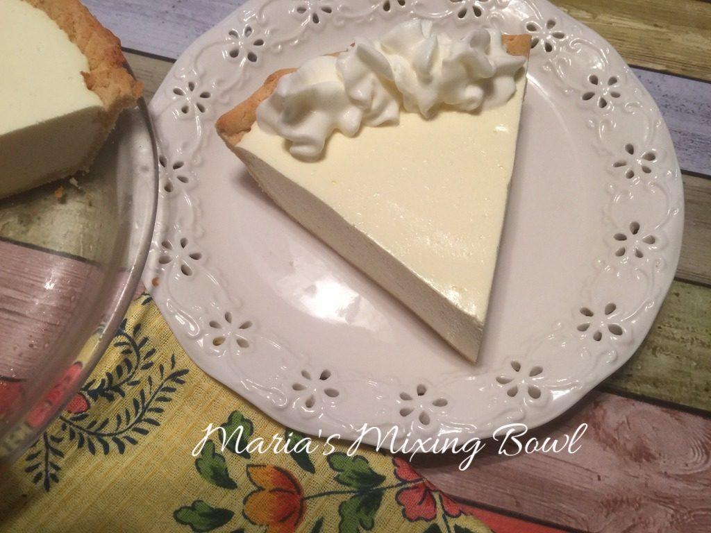 No Bake Cheesy Lemon Pie ~ Low Carb