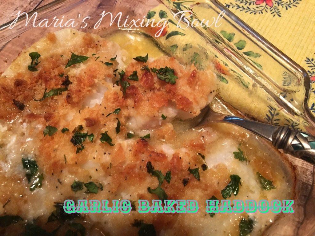 Garlic Baked Haddock