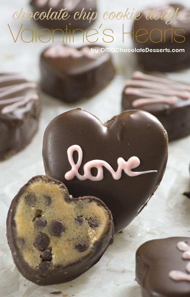 CHOCOLATE CHIP COOKIE DOUGH VALENTINE HEARTS