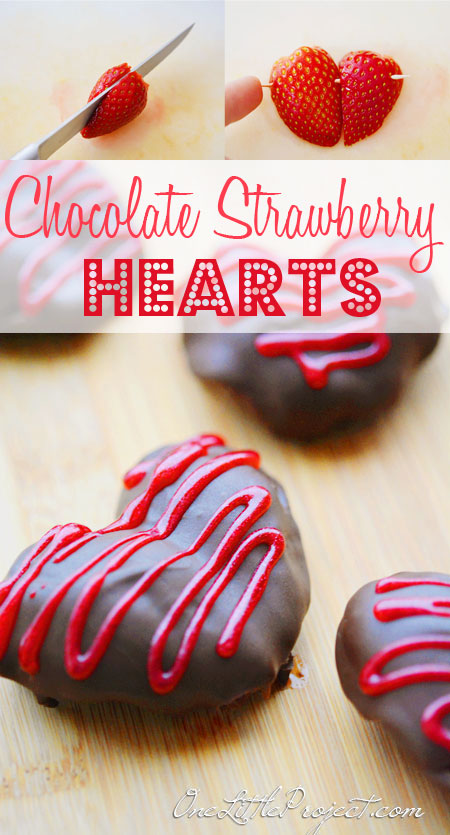 CHOCOLATE COVERED STRAWBERRY HEARTS