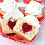 SURPRISE INSIDE HEART CUPCAKES