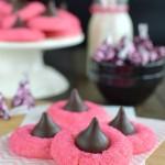 Strawberry Truffle Kiss Cookies
