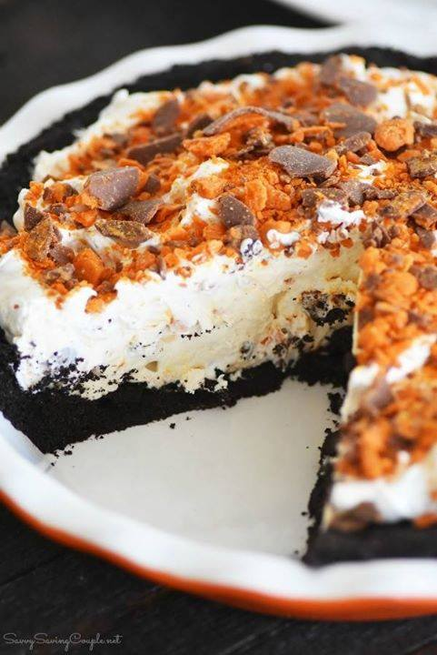 No Bake Butterfinger Cream Pie