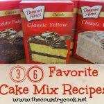 36 Favorite Cake Mix Recipes