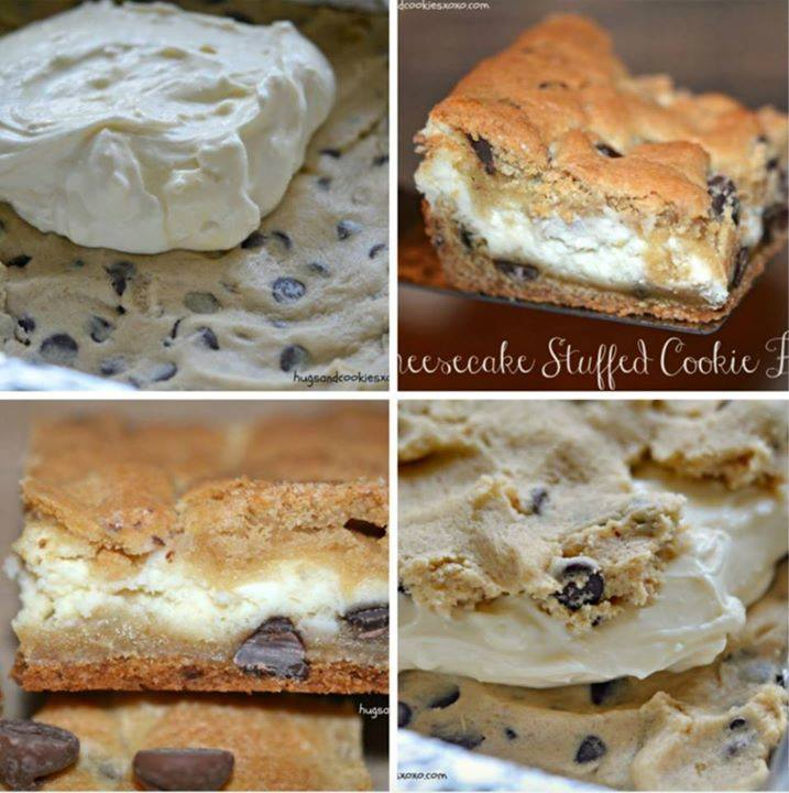 Cheesecake Stuffed Cookie Bars