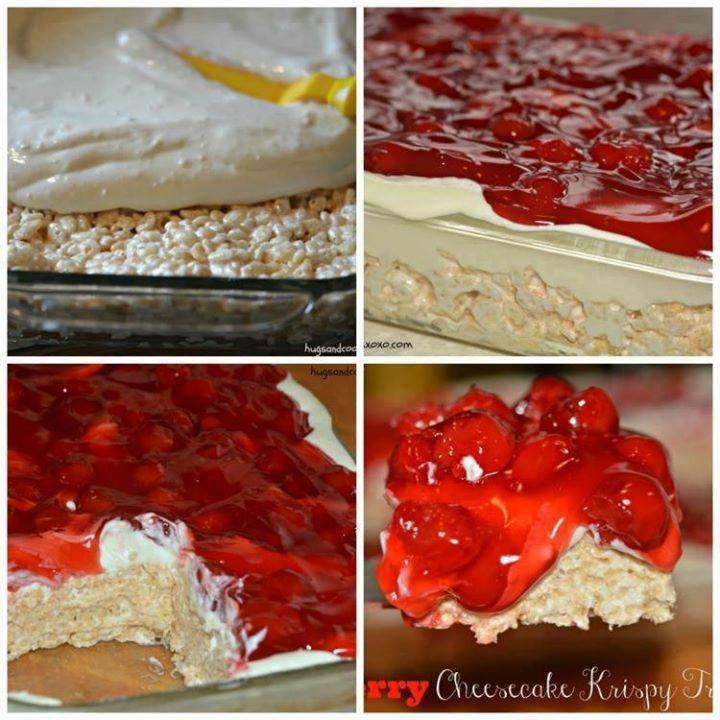 Cherry Cheesecake Krispy Bars