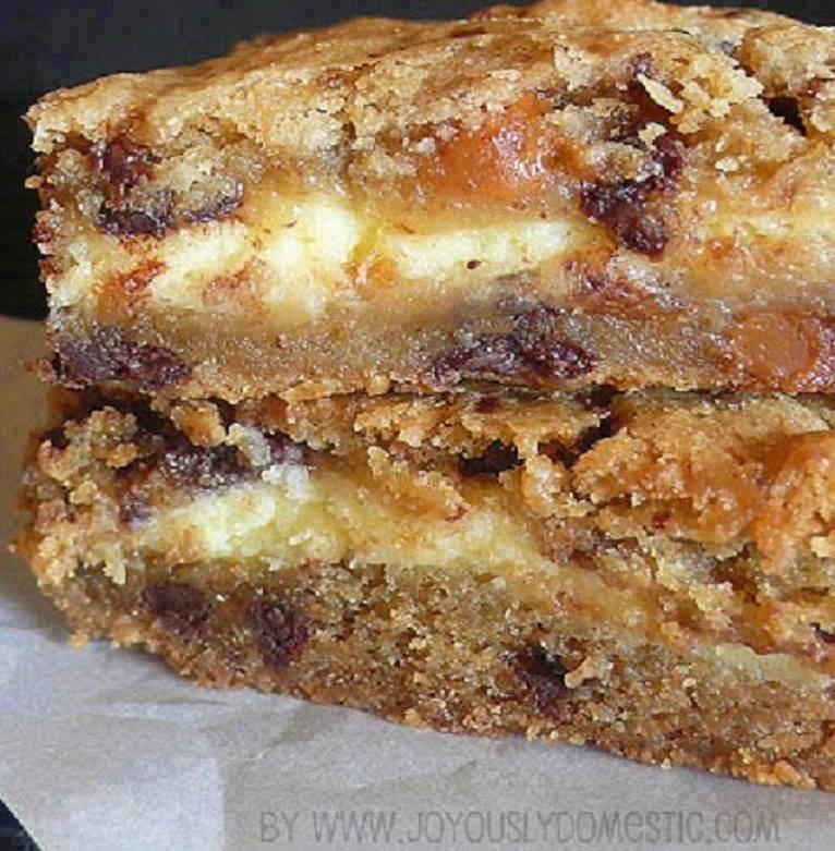 Cheesecake Caramel Toffee Chocolate Cookie Bars