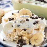 BANANA CHOCOLATE CHIP SHORTBREAD ICEBOX CAKE