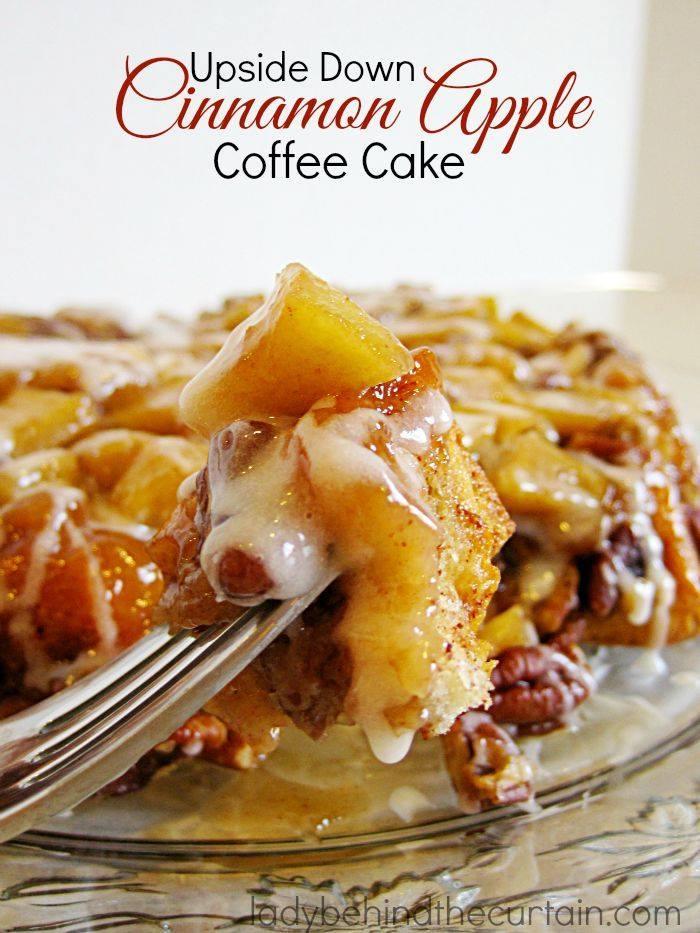 UPSIDE DOWN CINNAMON APPLE COFFEE CAKE