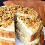 CARAMEL BANANA  NUT CAKE