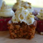 CARROT CUPCAKES W/ WHITE CHOCOLATE CREAM CHEESE FROSTING