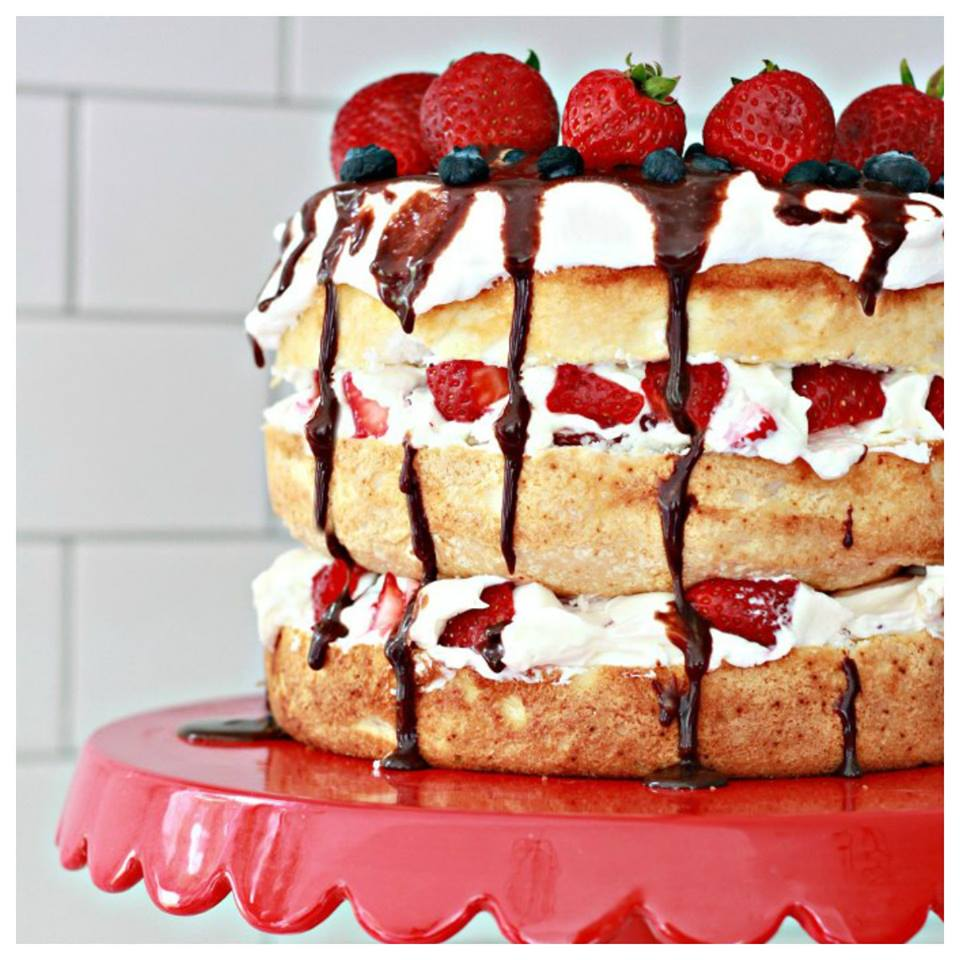 Summer Berry Aangel Food Cake