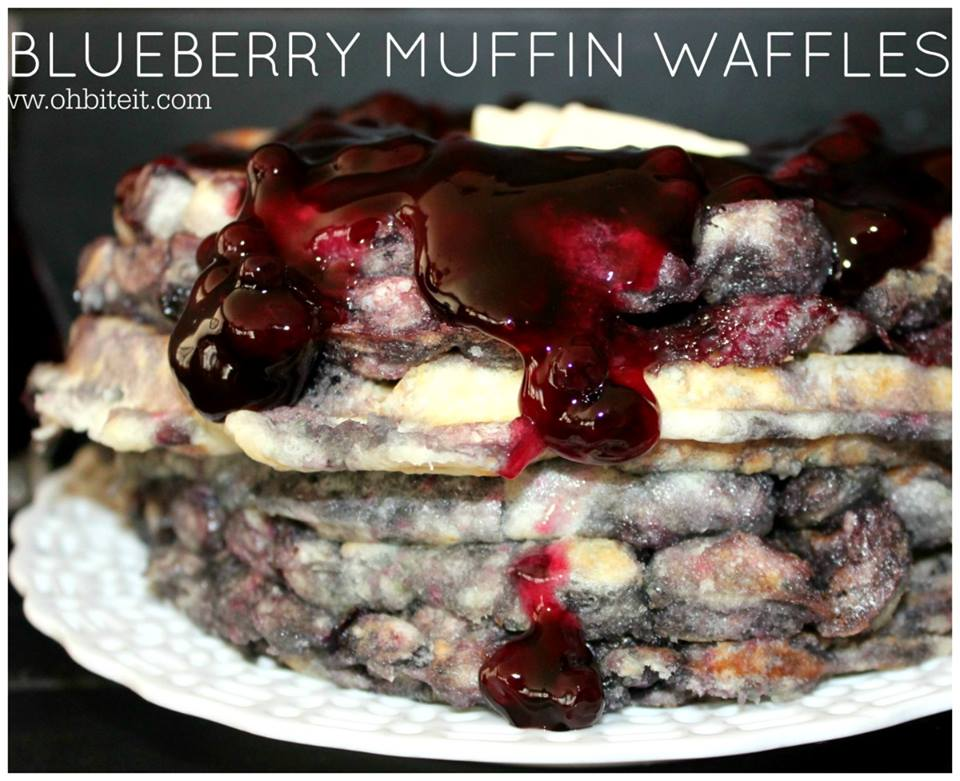 BLUEBERRY MUFFIN WAFFLES