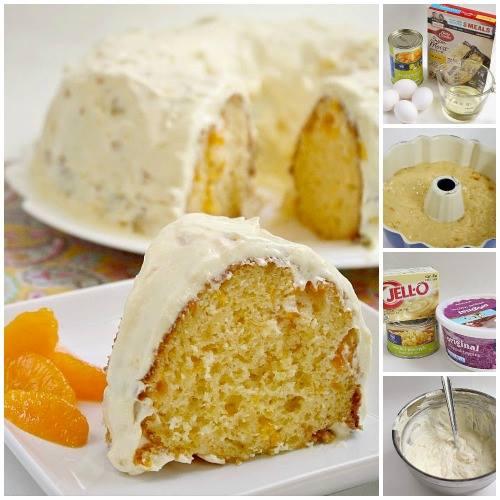MANDARIN ORANGE CAKE WITH PINEAPPLE CAKE