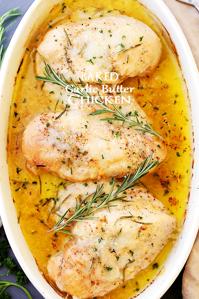 Baked Garlic Butter Chicken Maria S Mixing Bowl