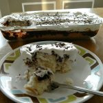 Eeasy Peasy Black and White Poke Cake