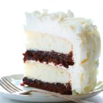 WHITE LAYER BROWNIE CAKE WITH BUTTERCREAM FROSTING