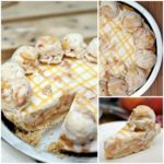 Peaches and Cream Ice Cream Pie
