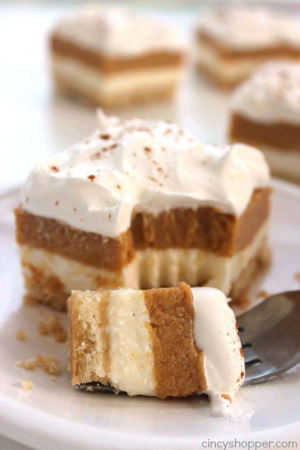 PUMPKIN LUSH BARS