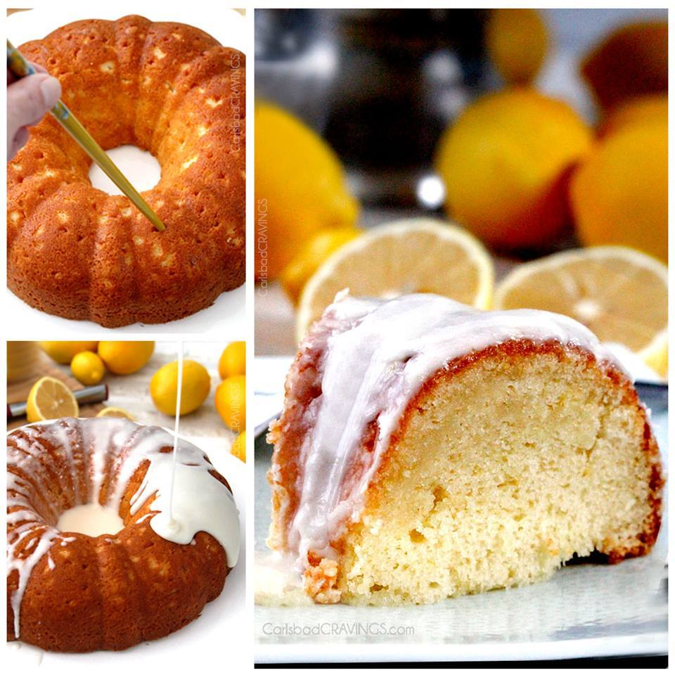 HOT LEMON POKE BUNDT CAKE