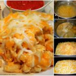 SLOW COOKER TRIPLE CHEDDAR MAC & CHEESE