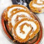 PECAN PUMPKIN ROLL CAKE