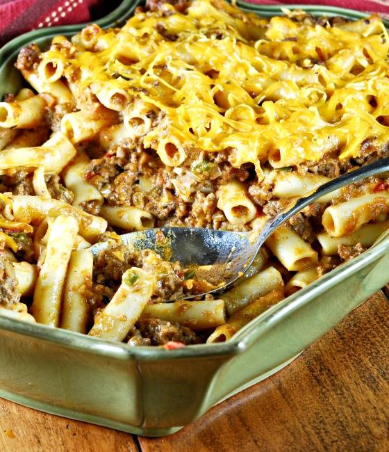 RACHEL RAYS  SOUTHWESTERN CHILI CON QUESO  BAKED PASTA