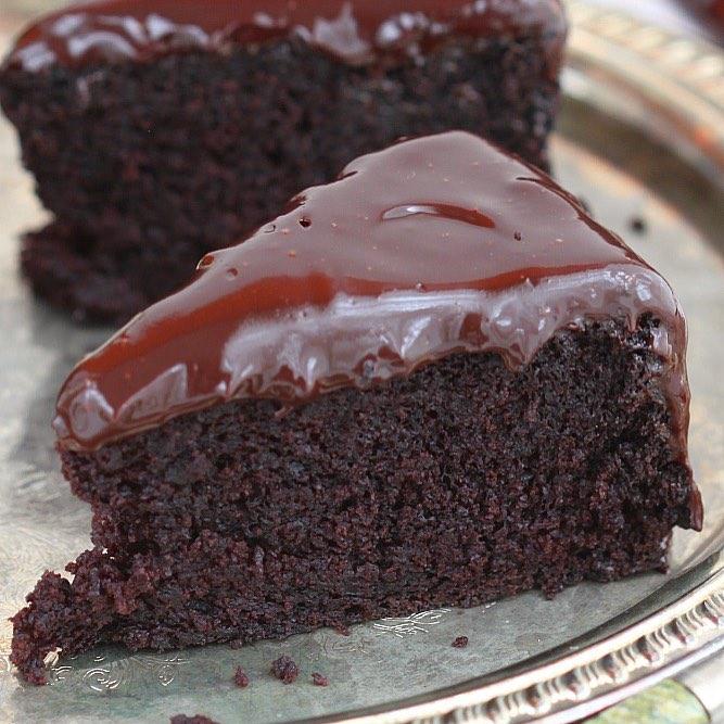 CHOCOLATE COFFEE CAKE WITH CHOCOLATE GANACHE