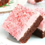 FUDGY BROWNIES WITH CANDY CANE FROSTING