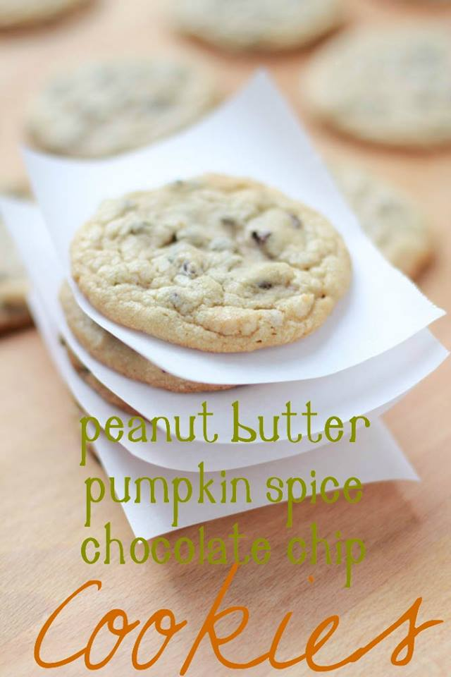 PEANUT BUTTER PUMPKIN SPICE CHOCOLATE CHIP COOKIES