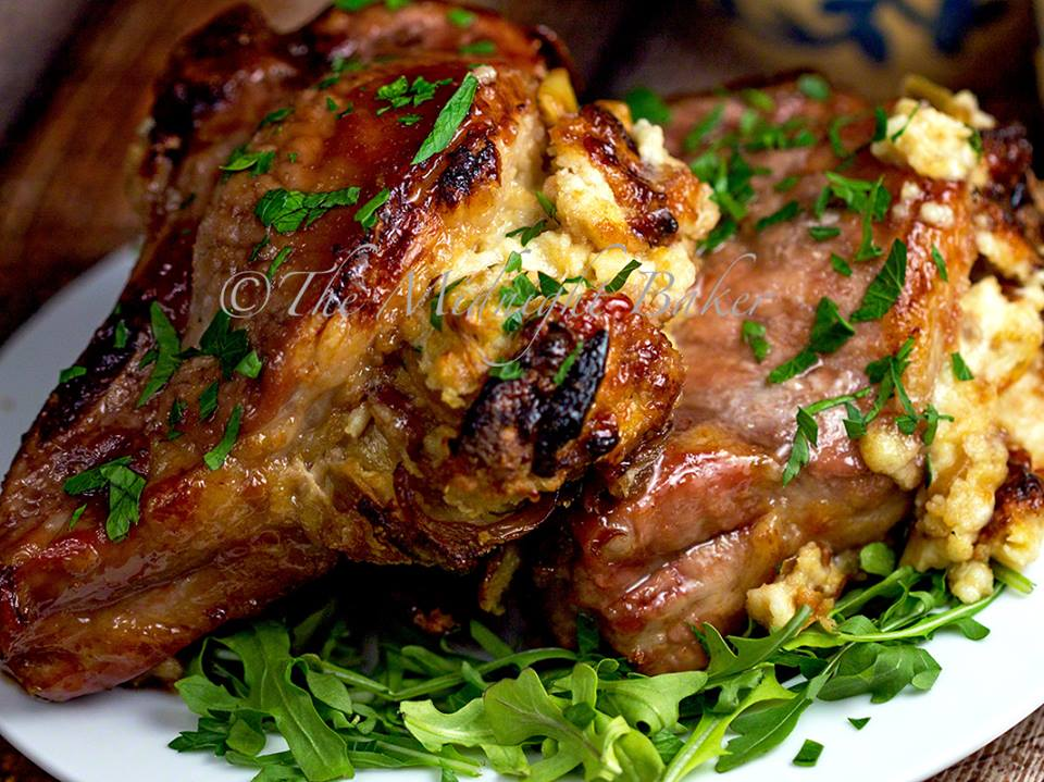 FONTINA AND CARAMELIZED ONION STUFFED PORK