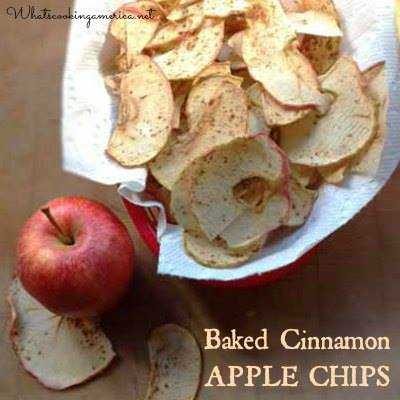 BAKED CINNAMON APPLE CHIPS