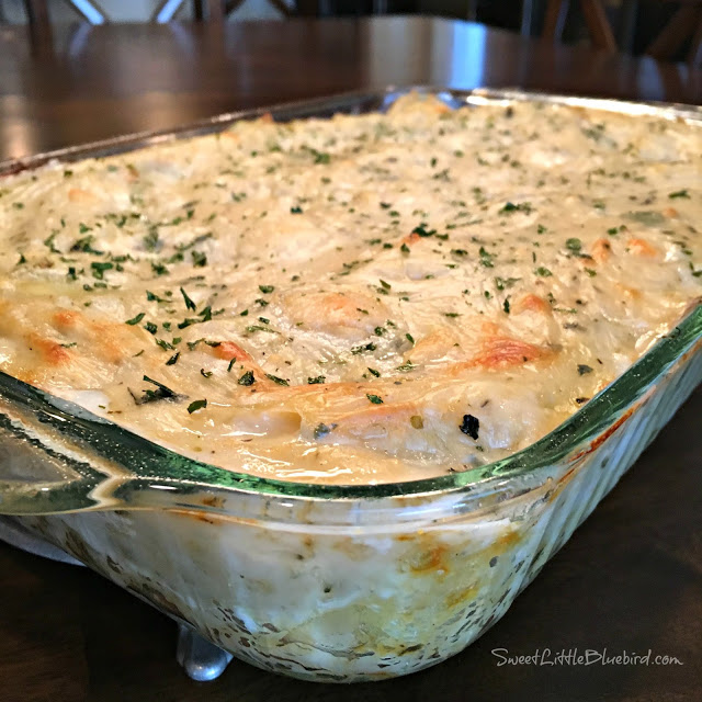 White Cheese Chicken Lasagna - Maria's Mixing Bowl