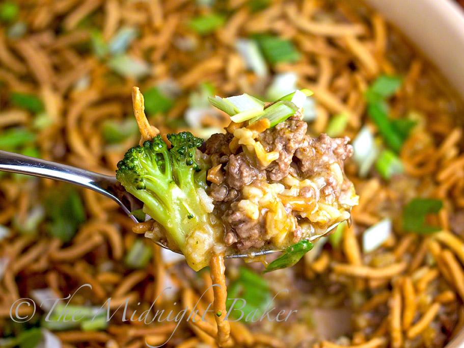 Crunchy Beef & Broccoli Casserole