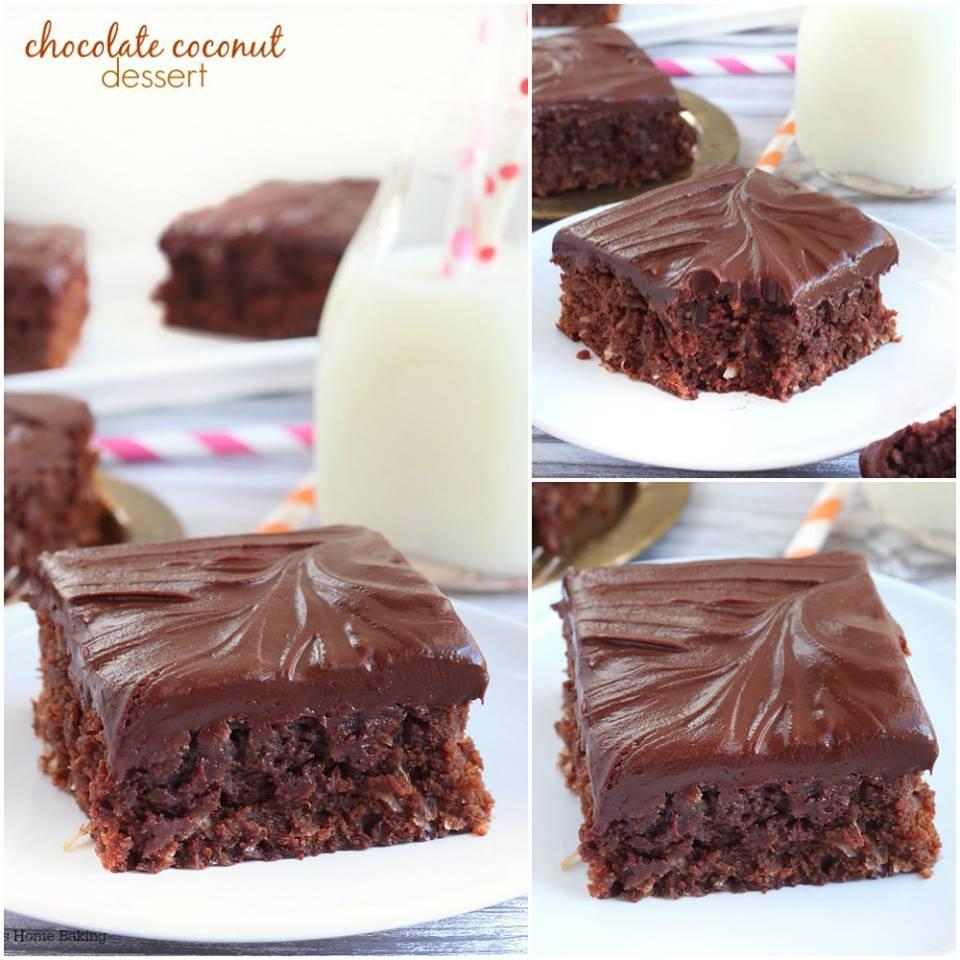DOUBLE CHOCOLATE COCONUT DESSERT