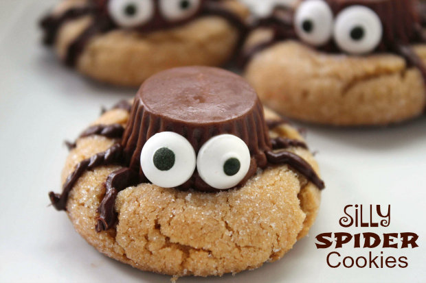 SILLY HALLOWEEN SPIDER COOKIES - Maria's Mixing Bowl