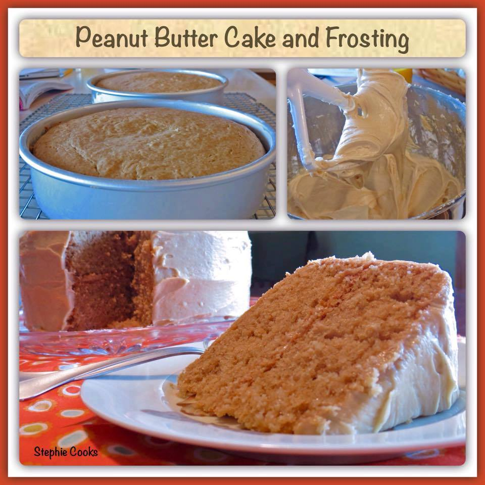 PEANUT BUTTER CAKE WITH PEANUT BUTTER FROSTING
