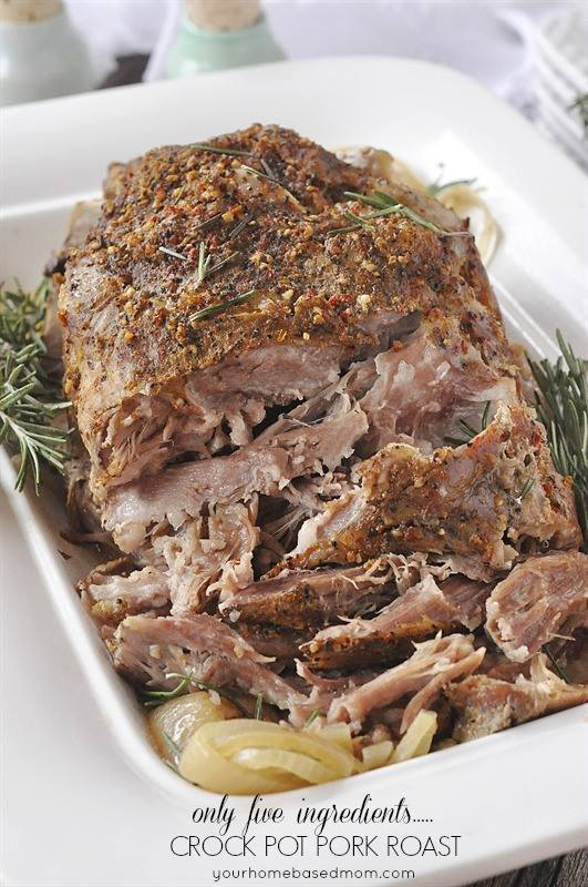 Crock pot pork roast 5 ingredients maria 39 s mixing bowl - Christmas pork roast five recipes ...