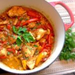 CHICKEN STEW WITH PEPPERS AND TOMATOES