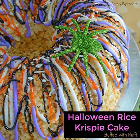 HALLOWEEN RICE KRISPIE TREAT CAKE