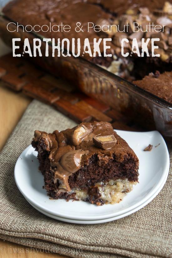 Chocolate Peanut Butter Earthquake Cake Maria S Mixing Bowl