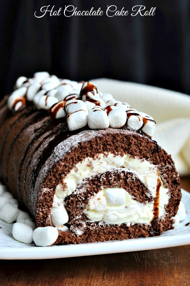 HOT CHOCOLATE CAKE ROLL