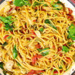 ONE POT CHEESE ITALIAN PASTA WITH CHICKEN