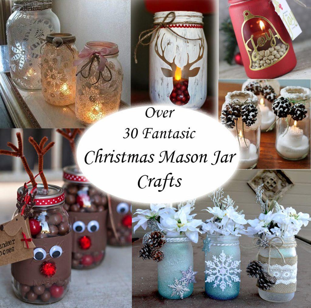 OVER 35 CHRISTMAS MASON JAR IDEAS