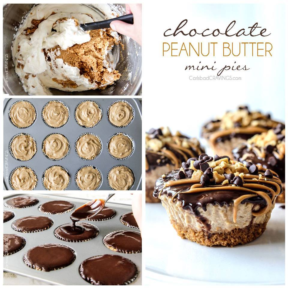 MINI CHOCOLATE PEANUT BUTTER PIES