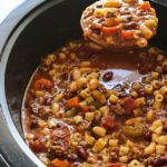SLOW COOKER BEEF AND PASTA SOUP