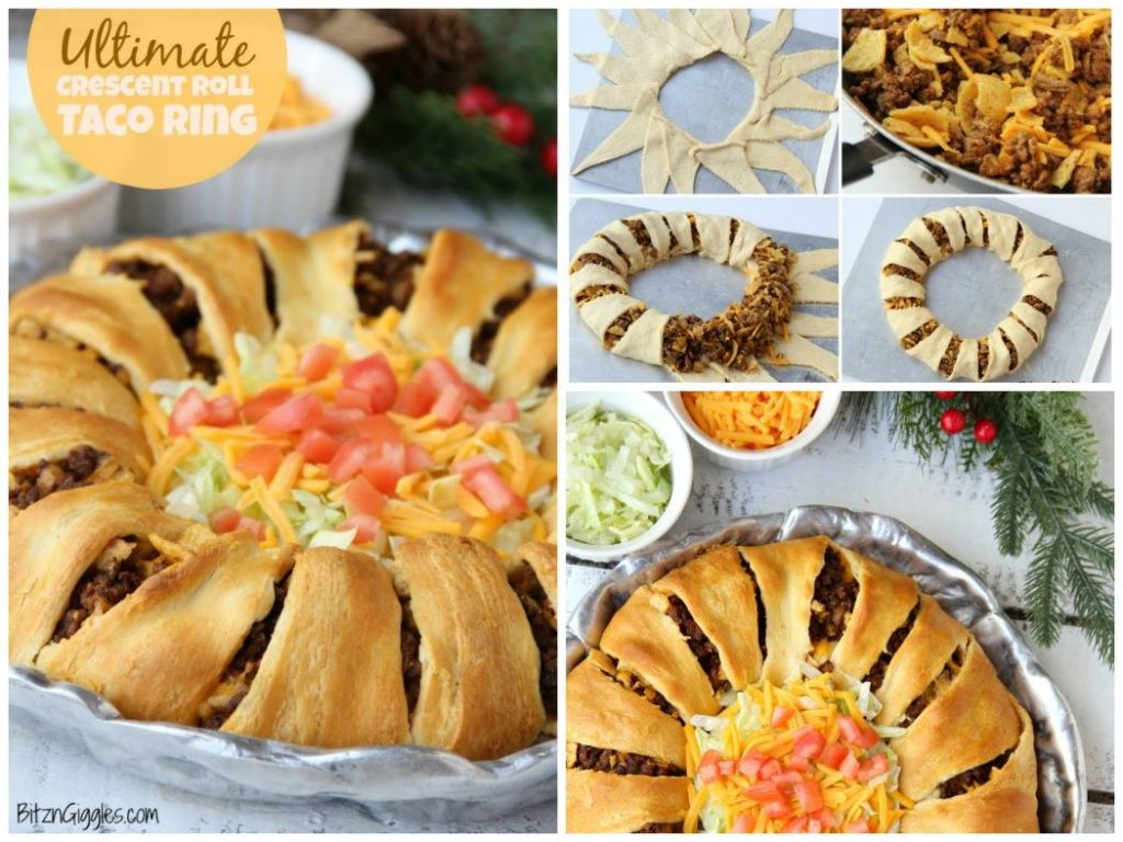 ULTIMATE CRESCENT ROLL TACO RING